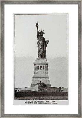 The Statue Of Liberty Framed Print by British Library