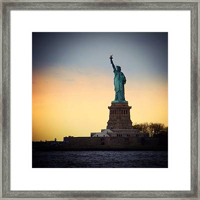 The Statue Of Liberty Framed Print by Natasha Marco