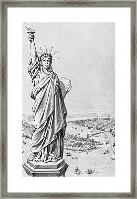 The Statue Of Liberty New York Framed Print by American School