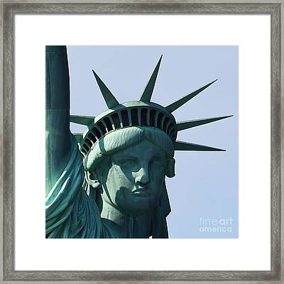 The Statue Of Liberty Framed Print by Robert Yaeger