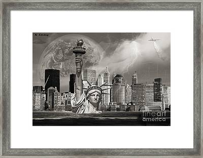 The Statue Of Sandy Framed Print by Karl Emsley
