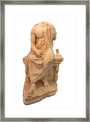 The Statue Of The Unidentified Philosopher Framed Print by Tracey Harrington-Simpson
