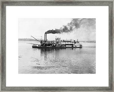 The Sternwheeler lightwood Framed Print by Underwood Archives