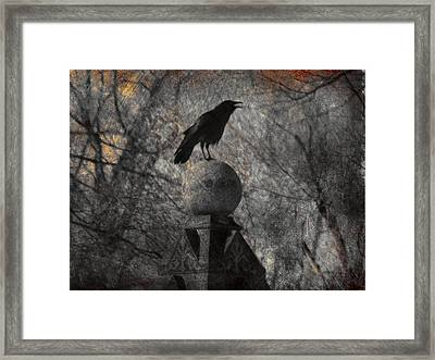 The Stone Globe Framed Print by Gothicolors Donna Snyder