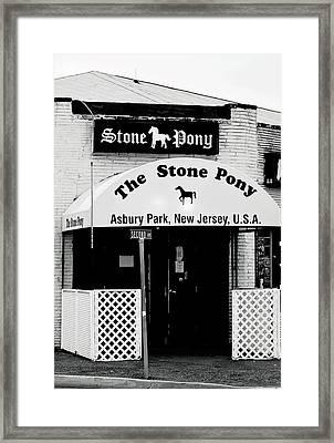 The Stone Pony Asbury Park Nj Framed Print by Terry DeLuco