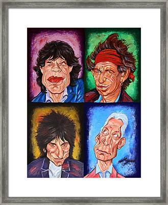 The Rolling Stones Framed Print by Dan Haraga