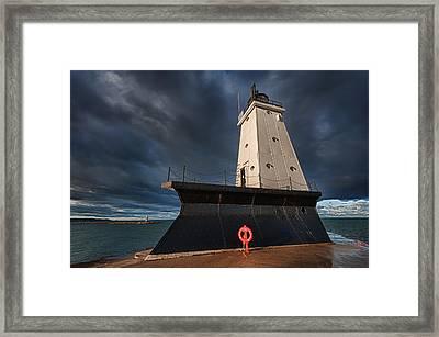 The Storm Framed Print by Sebastian Musial