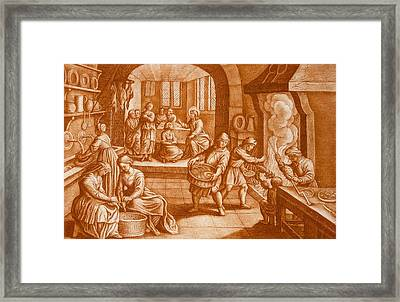 The Story Of Mary And Martha Framed Print by Mattaus II Merian