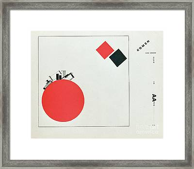The Story Of Two Squares Framed Print by El Lissitzky