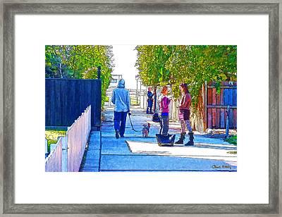 The Strand Framed Print by Chuck Staley