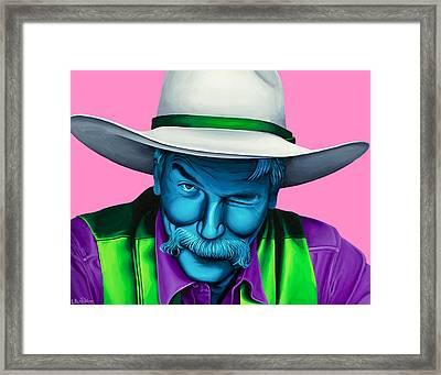 The Stranger- Color Edit- Framed Print by Ellen Patton
