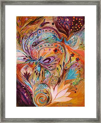 The Stream Of Life Part II Framed Print by Elena Kotliarker
