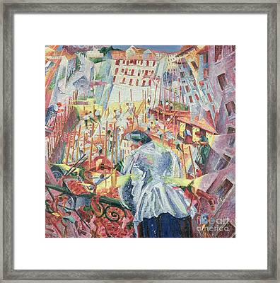 The Street Enters The House Framed Print by Umberto Boccioni