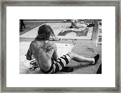 The Street Painter Framed Print by Armando Perez