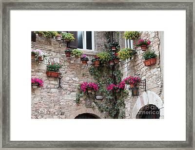 The Streets Of Assisi 2 Framed Print by Theresa Ramos-DuVon