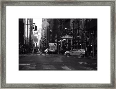 The Streets Of New York City Framed Print by Dan Sproul