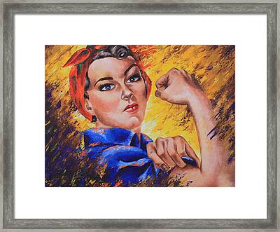 The Strength Within Framed Print by Connie Mobley Medina
