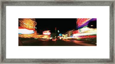 The Strip At Night, Las Vegas, Nevada Framed Print by Panoramic Images