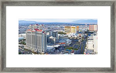 The Strip, Las Vegas, Clark County Framed Print by Panoramic Images