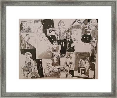 The Struggle For Independence Framed Print by Esther Newman-Cohen