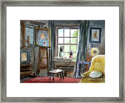 The Studio Of Juliet Pannett Framed Print by Bill Holkham