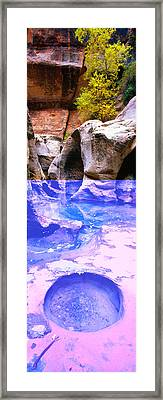 The Subway At Zion National Park, Utah Framed Print by Panoramic Images