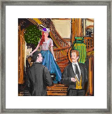 The Suitor Framed Print by Larry E  Lamb