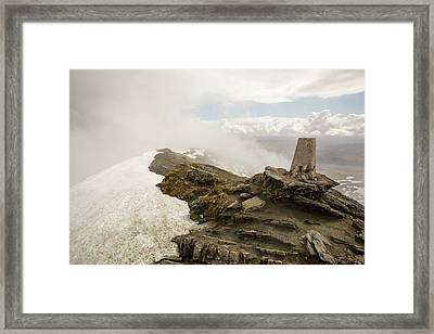 The Summit Of Ben Lawers Framed Print by Ashley Cooper
