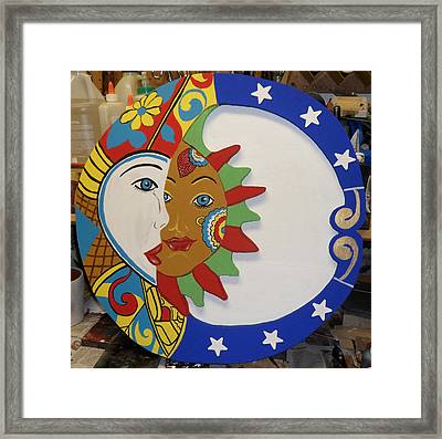The Sun And The Moon Framed Print by Val Oconnor