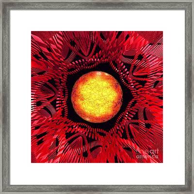 The Sun Is The Center Framed Print by Gaspar Avila