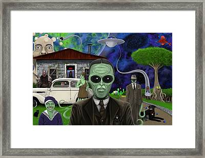 The Sun Setting On A Drowning Man Framed Print by Kris Milo