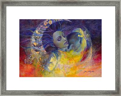 The Sun The Moon And The Truth Framed Print by Dorina  Costras