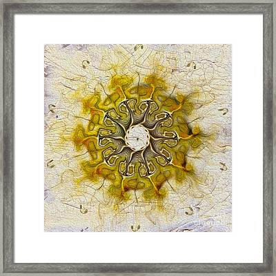 The Sundial Framed Print by Deborah Benoit