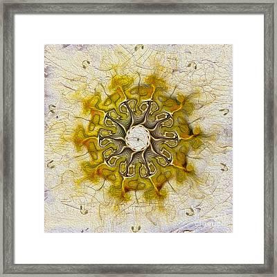 The Sundial Framed Print by Deborah Benoit