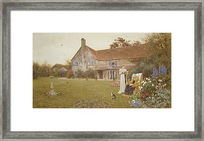 The Sundial Framed Print by Thomas James Lloyd