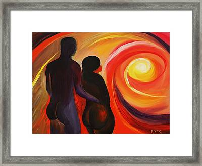 The Sunset Of Our Dreams Framed Print by Angel Reyes
