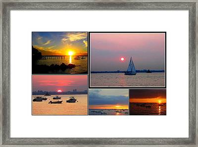 The Sunsets Of Long Island Framed Print by Dora Sofia Caputo Photographic Art and Design
