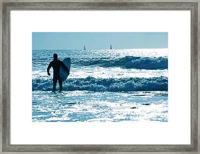 The Surfer 2 Framed Print by Micah May