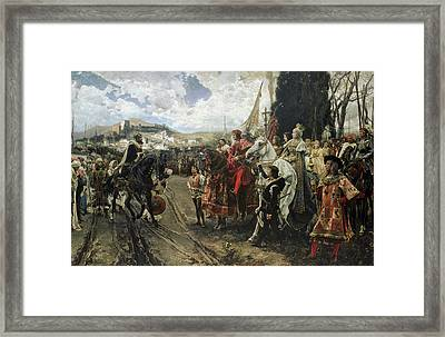 The Surrender Of Granada Framed Print by Francisco Pradilla y Ortiz