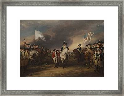 The Surrender Of Lord Cornwallis At Yorktown, October 19, 1781, 1787-c.1828 Oil On Canvas Framed Print by John Trumbull