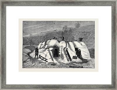 The Survivors Of The Jeannette In Siberia Exterior Framed Print by English School
