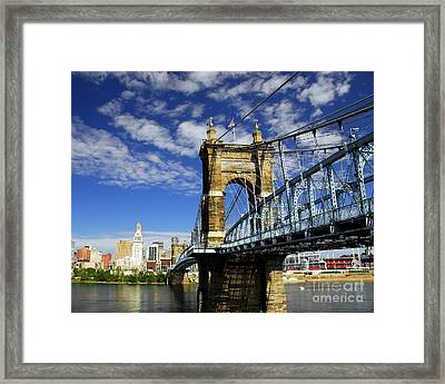 The Suspension Bridge Framed Print by Mel Steinhauer