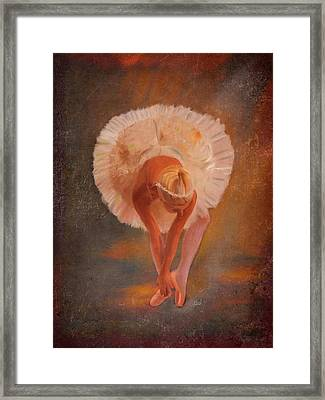 The Swan Warming Up Framed Print by Angela A Stanton