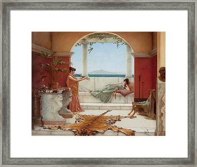 The Sweet Siesta Of A Summer Day Framed Print by John William Godward