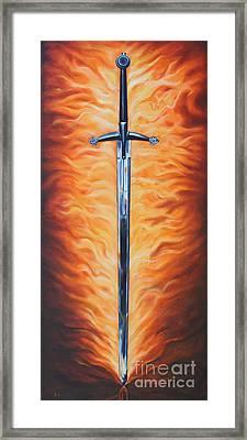 The Sword Of The Spirit Framed Print by Ilse Kleyn