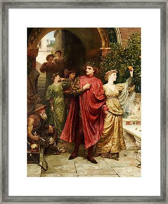 The Symbol Framed Print by Sir Frank Dicksee