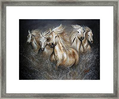 The Symphony Framed Print by Teshia Art