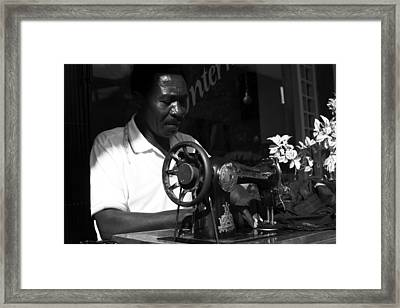 The Tailor - Tanzania Framed Print by Aidan Moran