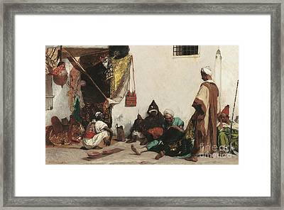 The Tailors Shop Framed Print by Jean Joseph Benjamin Constant