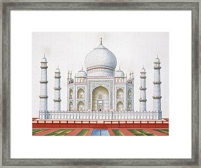 The Taj Mahal Framed Print by German School